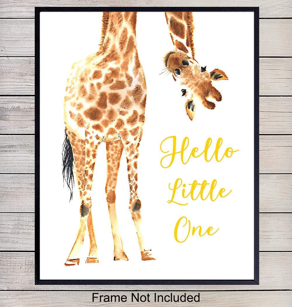 Giraffe Nursery Decor Wall Art Print