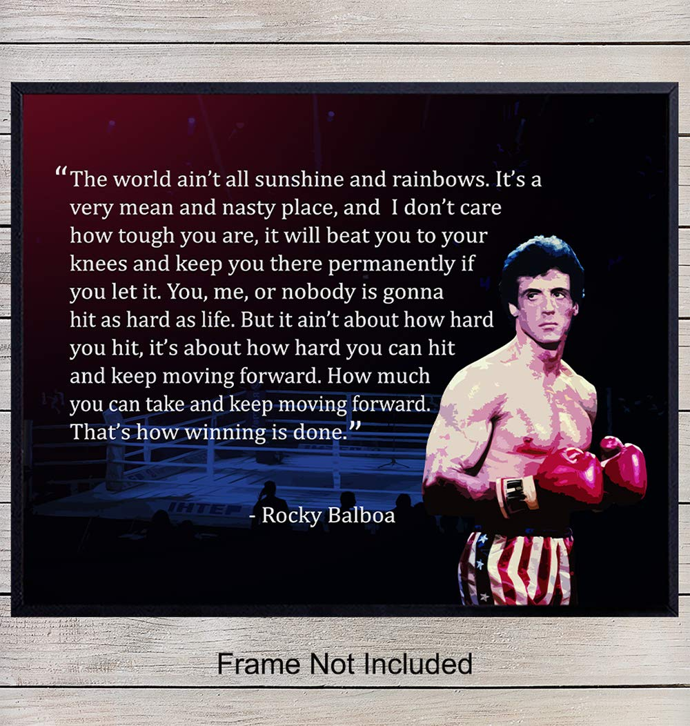 Rocky Balboa Motivational Quote Art Print Wall Art